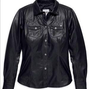 Harley-Davidson leather shirt/jacket. large NWT